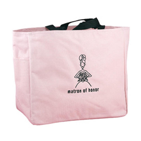 Pink Tote Bag - Matron of Honor, tote bags, matron of honor gifts, pink tote bags, wedding party gifts, Wedding Gifts