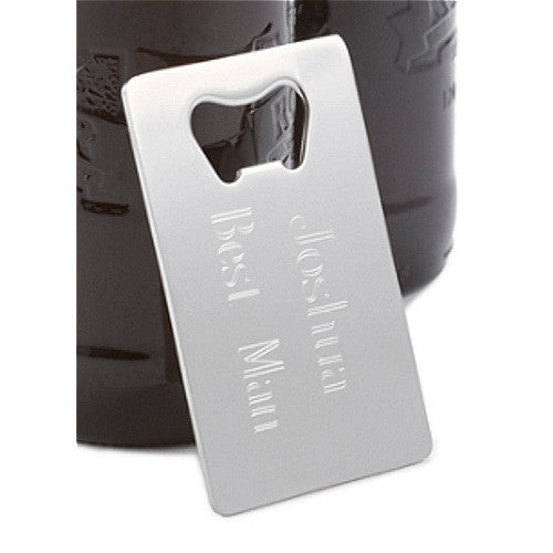 Personalized Credit Card Bottle Opener - Sophie's Favors and Gifts