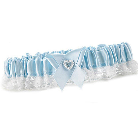 Blue Heart and Rhinestone Garter Toss - Sophie's Favors and Gifts