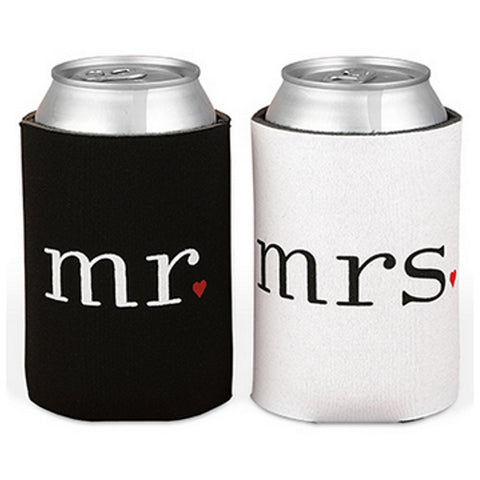 Mr. And Mrs. Can Coolers, wedding gift ideas, unique wedding gift, wedding party gifts, bride and groom gift ideas, Practical Favors