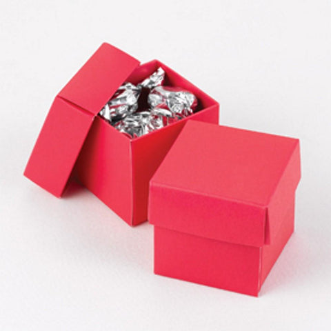 Magenta Two Piece Favor Boxes - 2in. X 2in. X 2in., magenta boxes, magenta weddings, wedding favor boxes, hot pink boxes, Favor Boxes