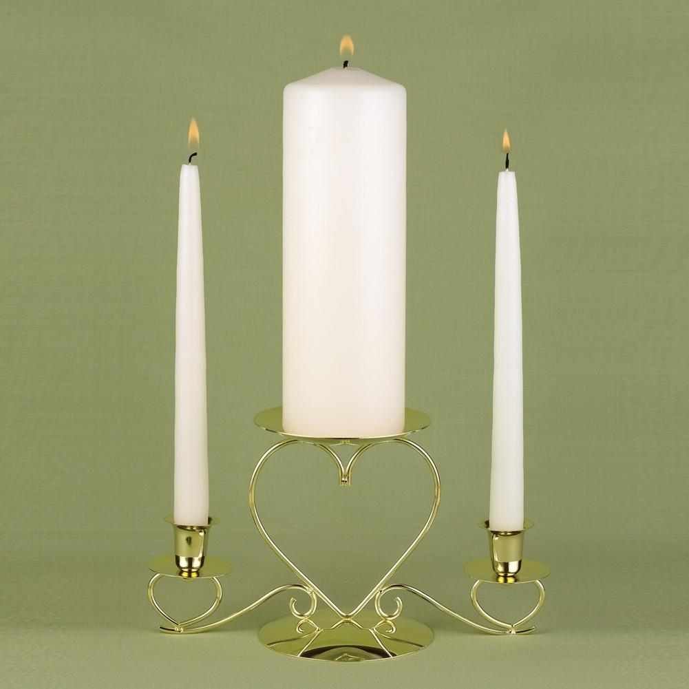Basic Ivory Unity Candle and Two Ivory Tapers - Sophie's Favors and Gifts