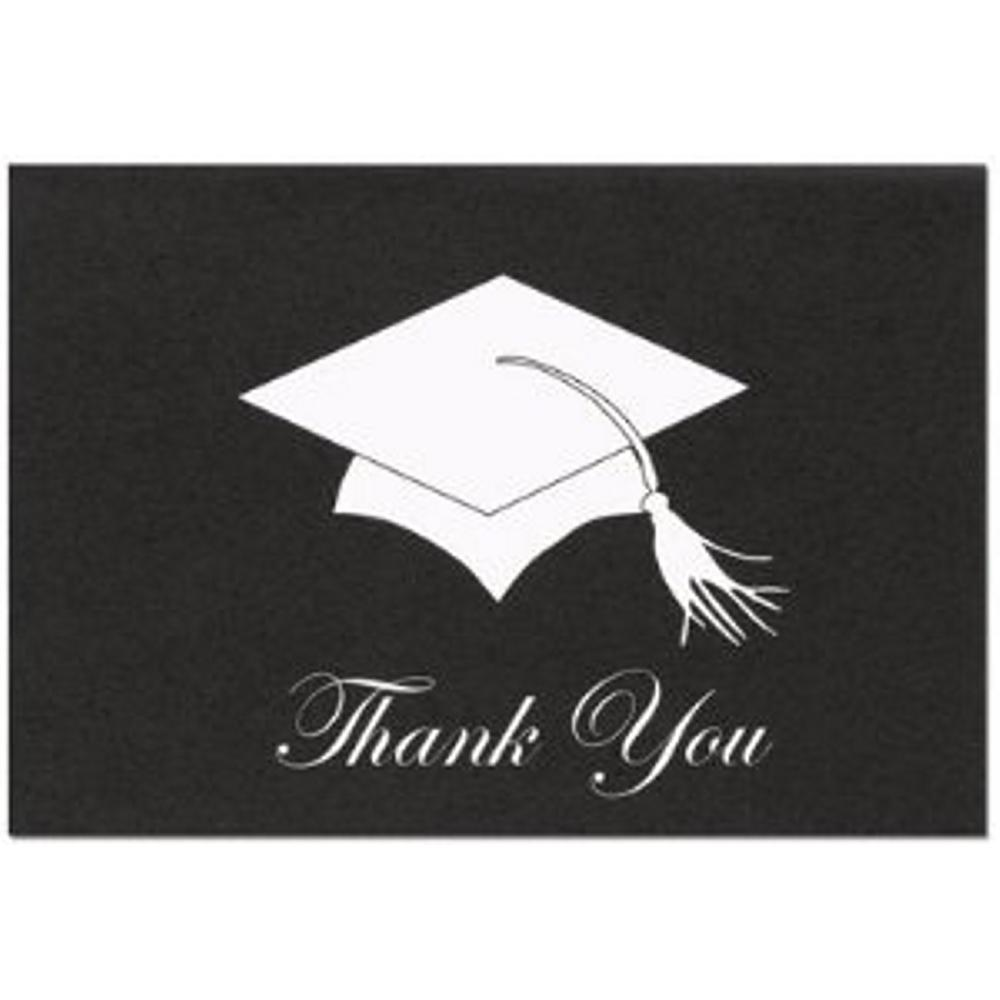 Graduation Hat Thank You Note Cards and Envelopes - 48, graduation thank you cards, graduation thank you notes, grad thank you notes, motar board thank you cards, Thank You Cards