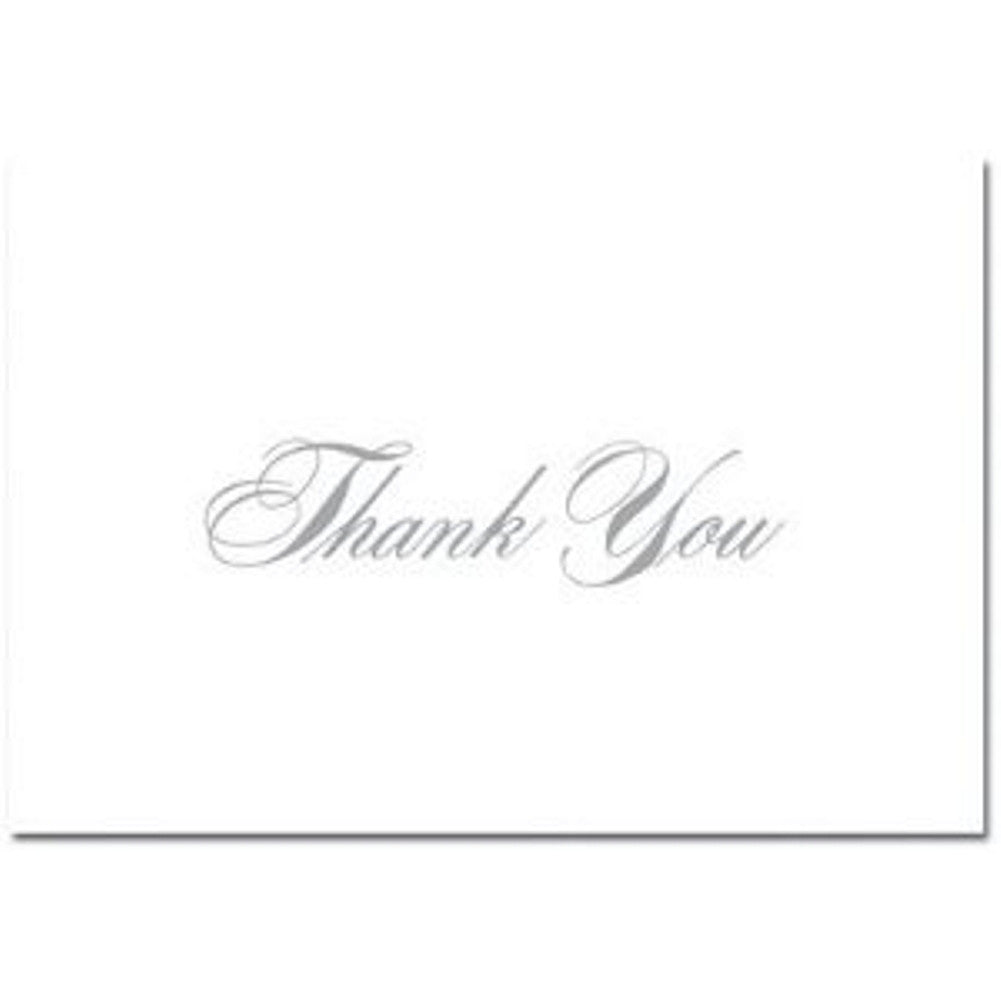 Silver Thank You Note Cards and Envelopes - Pack of 96, silver thank you cards, silver thank you notes, silver note cards, wedding thank you cards, Thank You Cards