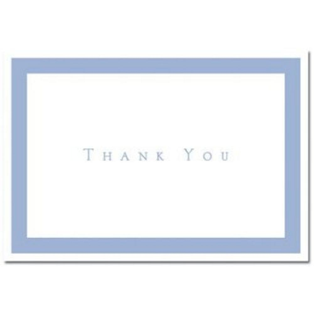 Periwinkle Thank You Note Cards - pack of 100, blue wedding, blue wedding theme, blue thank you card, blue thank you note, Thank You Cards