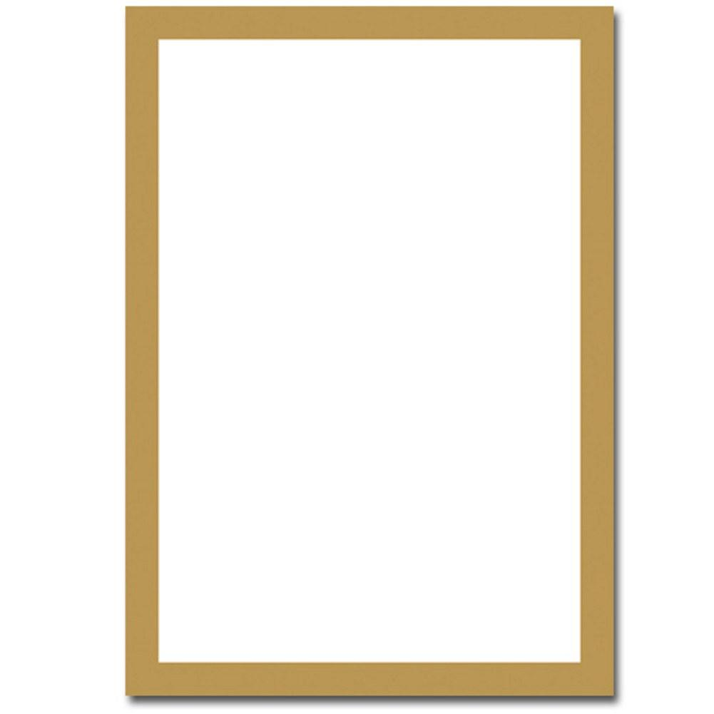 Metallic Gold Border Flat Cards With Envelopes, printable invitations, 50th anniversary invitations, 50th anniversary supplies, 50th gold anniversary, Invitations