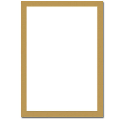 Metallic Gold Border Flat Cards With Envelopes - Sophie's Favors and Gifts