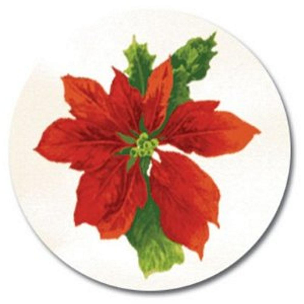 Poinsettia Swirl Christmas Seals - Sophie's Favors and Gifts