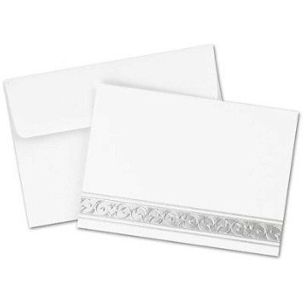Silver Filigree Note Cards and Envelopes - 100, elegant wedding thank you cards, silver thank you cards, anniversary thank you cards, blank silver cards, Thank You Cards