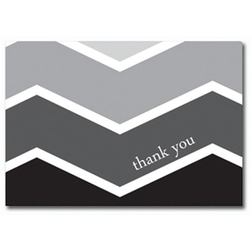 Ombre Chevron Thank You Cards with Envelopes - 50 Pack - Sophie's Favors and Gifts