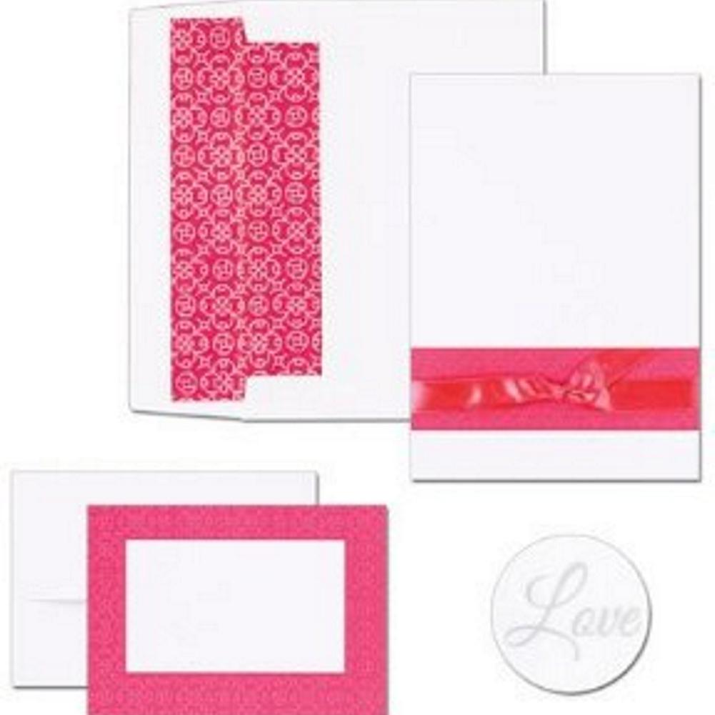 Fuchsia Band Invitation and Note Card Kit - Sophie's Favors and Gifts