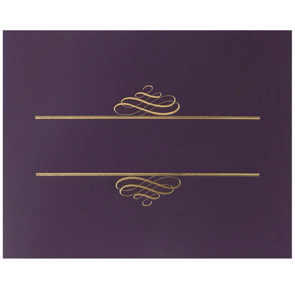 Plum Value Certificate Covers, purple certificate covers, certificate supplies, award certificate cover, stock certificate covers, Stationery & Letterhead