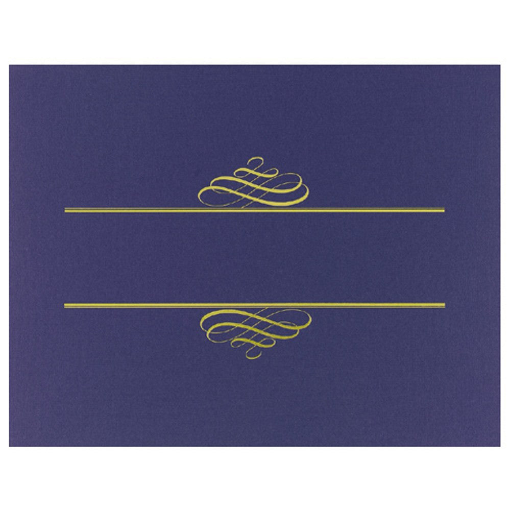 Navy Blue Value Certificate Covers, blue certificate covers, certificate supplies, award certificate cover, stock certificate covers, Stationery & Letterhead