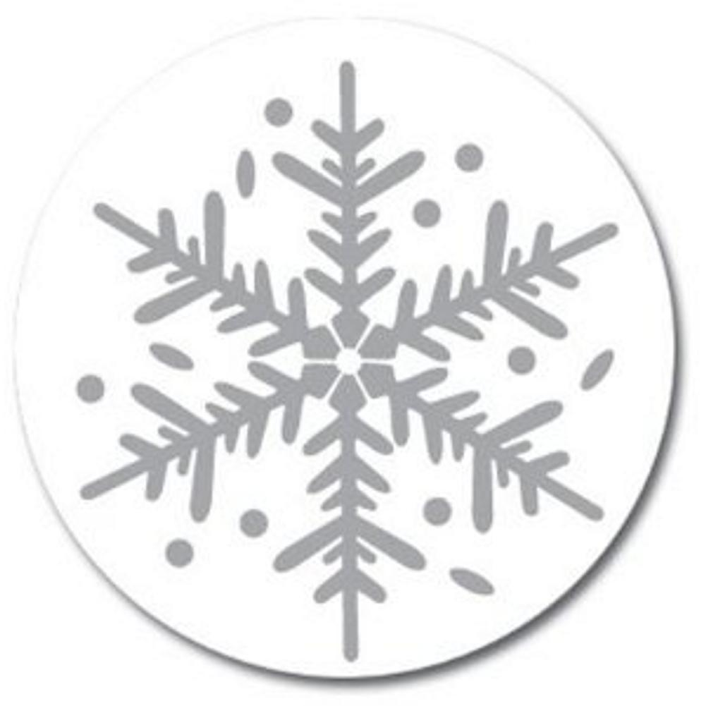 Silver Flakes Christmas Seals, snowflakes envelope seals, snowflakes seals, snowflake seals, snowflake stickers, Christmas