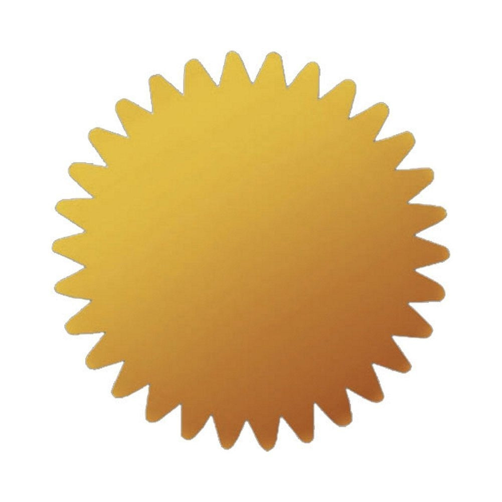 Metallic Gold Foil Certificate Seals - 1.75in. - 100 Pack - Sophie's Favors and Gifts