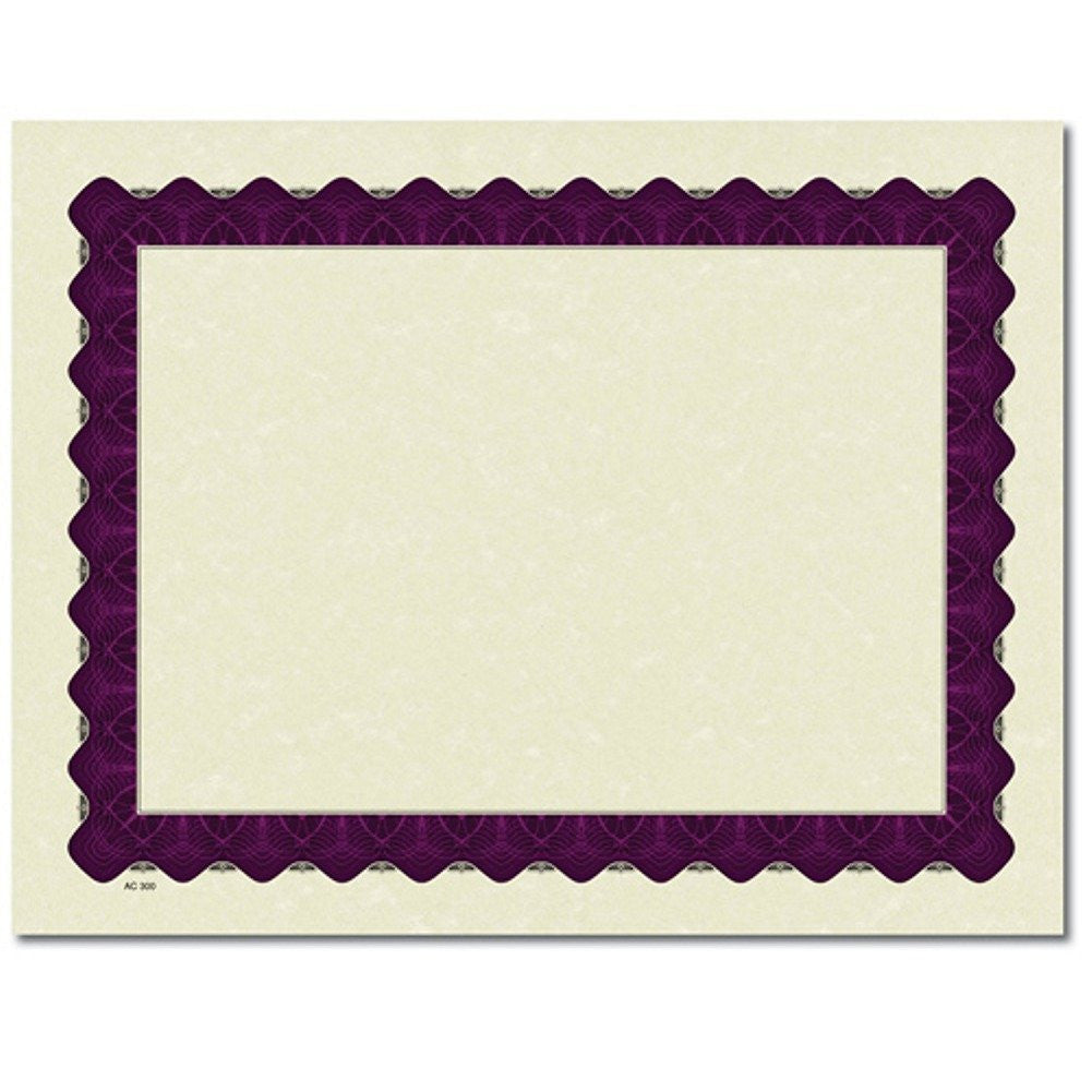 Metallic Purple Parchment Certificates - 25 Pack - Sophie's Favors and Gifts