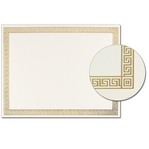 Gold Channel Border Certificates - 15 Pack - Sophie's Favors and Gifts