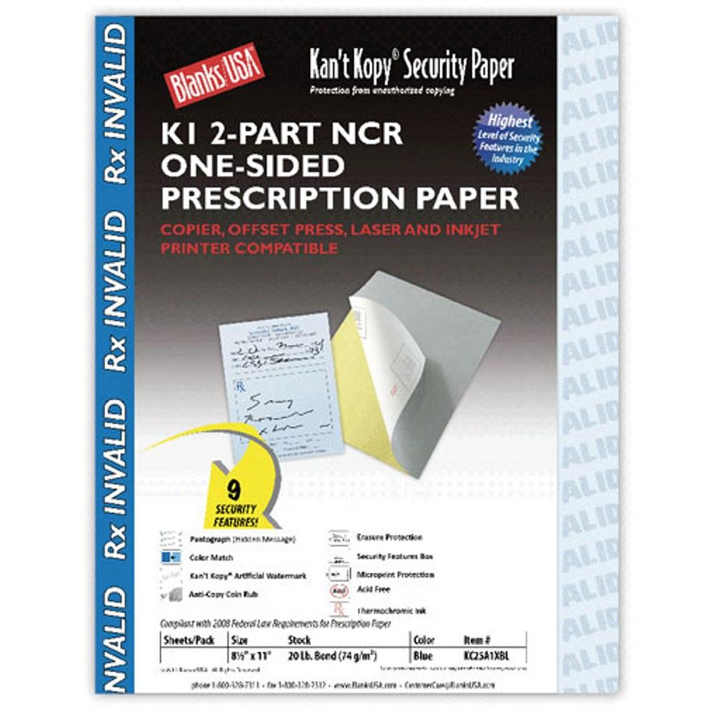 2-Part Security Prescription Paper 8.5x11, prescription paper, security prescription papers, prescriptions paper, prescriptions, Stationery & Letterhead