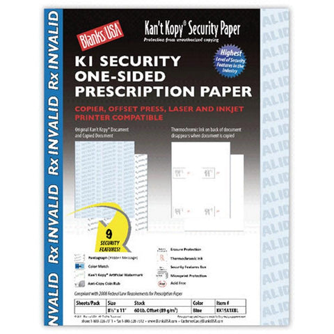 Security Prescription Paper - 8.5x11, prescription paper, security prescription papers, prescriptions paper, prescriptions, Stationery & Letterhead