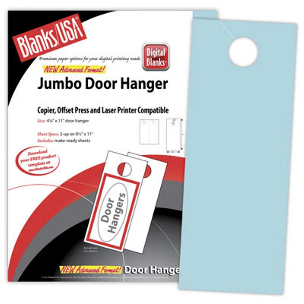 Blue Jumbo Door Hangers - Pack of 100, blue door hangers, door hanger paper, printable door hangers, jumbo door hangers, Stationery & Letterhead