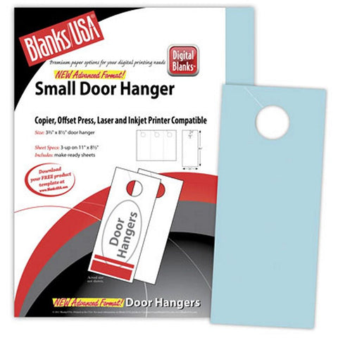 Small Blue Door Hangers - Pack of 150 - Sophie's Favors and Gifts