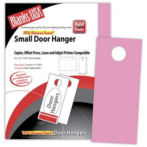 Bright Pink Small Door Hangers - Pack of 150 - Sophie's Favors and Gifts