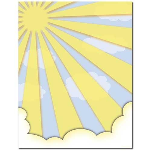 Sun Shiney Day Letterhead - 100 Sheets - Sophie's Favors and Gifts