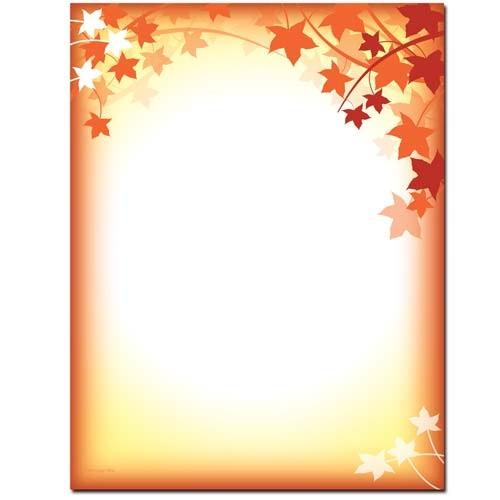 Fall Silhouette Letterhead - 100 Sheets - Sophie's Favors and Gifts