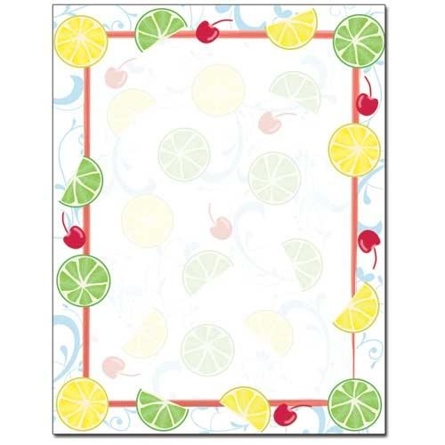 Cherry Limeade Letterhead - 100 Sheets - Sophie's Favors and Gifts