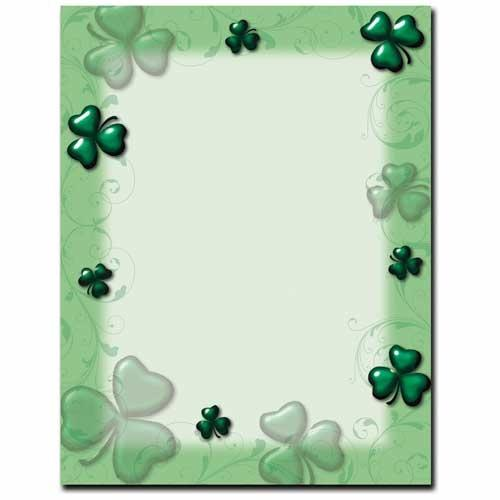 Shamrock and Swirls Letterhead - 100 Sheets - Sophie's Favors and Gifts