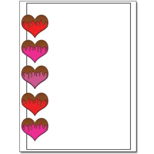 Chocolate Covered Hearts Letterhead - 100 Sheets - Sophie's Favors and Gifts