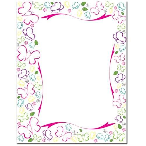Sketched Butterflies Letterhead - 100 Sheets - Sophie's Favors and Gifts