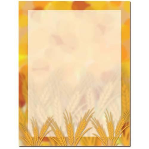 Amber Waves Letterhead - 100 Sheets - Sophie's Favors and Gifts