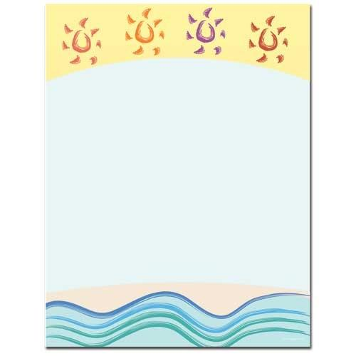 Summer Suns Letterhead - 100 Sheets - Sophie's Favors and Gifts