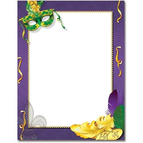 Mardi Gras Letterhead - 100 Sheets - Sophie's Favors and Gifts