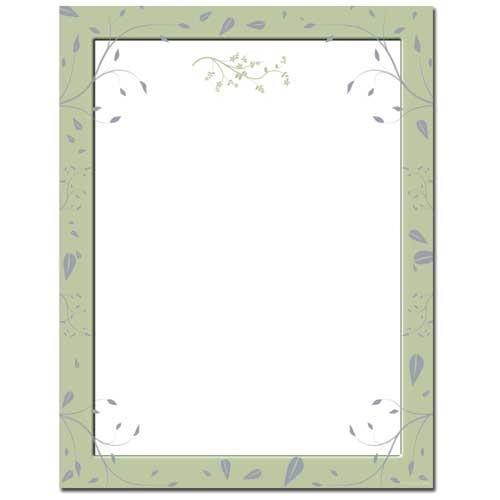 Sage Leaves Letterhead - 100 Sheets - Sophie's Favors and Gifts