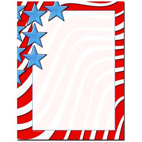 Star Spangled Banner Letterhead - 100 Sheets - Sophie's Favors and Gifts