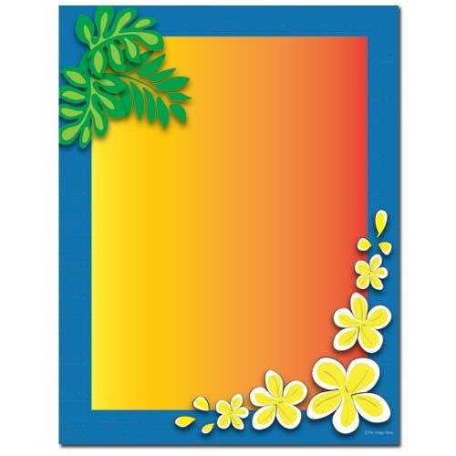 Tropical Paradise Letterhead - 100 Sheets, beach letterhead, tropical stationery, vacation stationery, floral stationery, Stationery & Letterhead