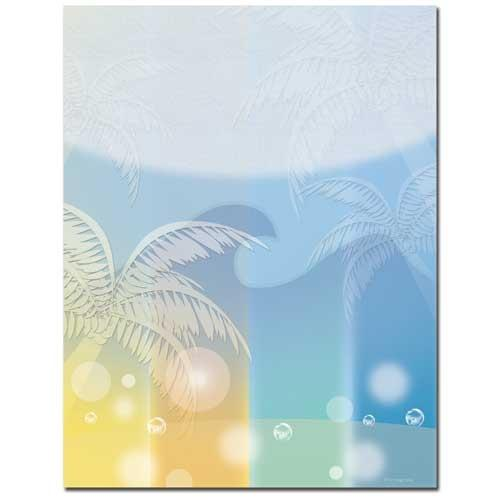 Oasis Letterhead - 100 Sheets - Sophie's Favors and Gifts