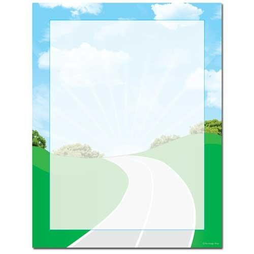 Road Trip Letterhead - 100 Sheets, summer stationery, christmas letter stationery, road trip letter, travel stationery, Stationery & Letterhead