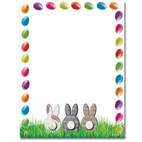 Bunny Butts Letterhead - 100 Sheets, easter stationery, easter paper, spring letterhead, rabbit stationery, Stationery & Letterhead