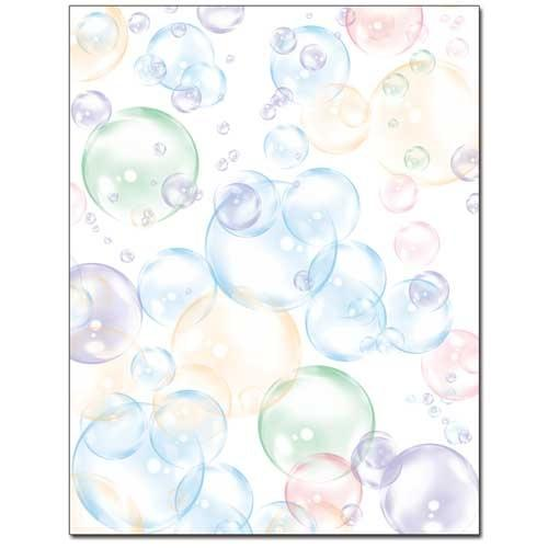 Floating Bubbles Letterhead - 100 Sheets - Sophie's Favors and Gifts