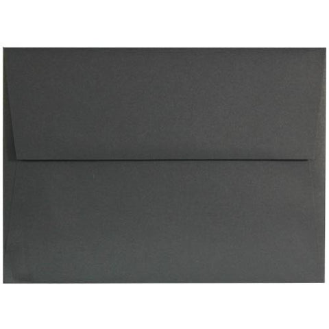 black Licorice A9 Envelopes - 50 Pack, black envelopes, A9 Envelopes, announcement envelopes, black stationery, Stationery & Letterhead