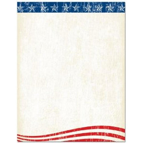 200 Faded Glory Letterhead Sheets, july 4th letterhead, july 4th stationery, red white blue letterhead, red white blue stationery, Stationery & Letterhead