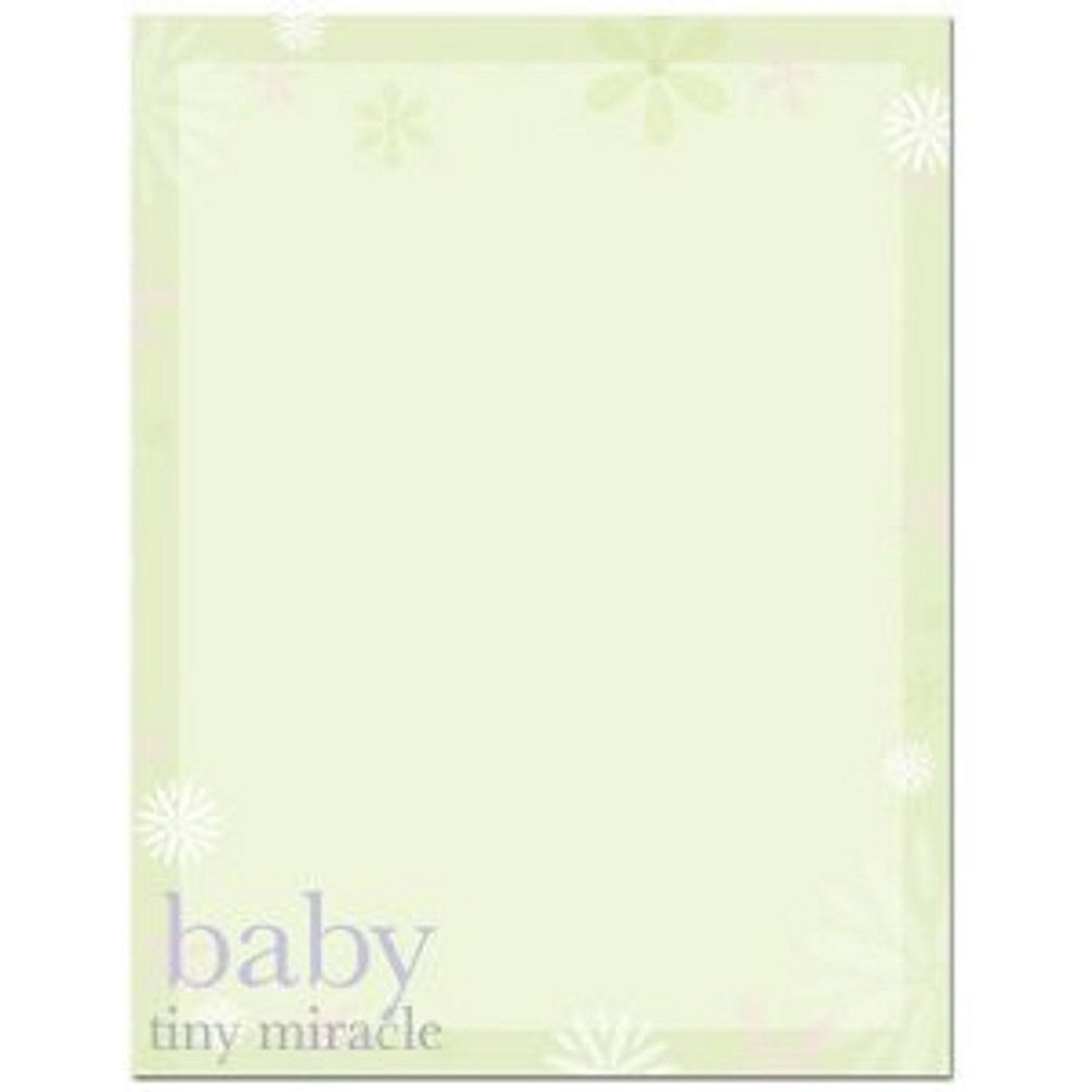 100 Baby Tiny Miracle Stationery Sheets, baby letterhead, baby stationery, baby shower invitations, kid stationery, Stationery & Letterhead
