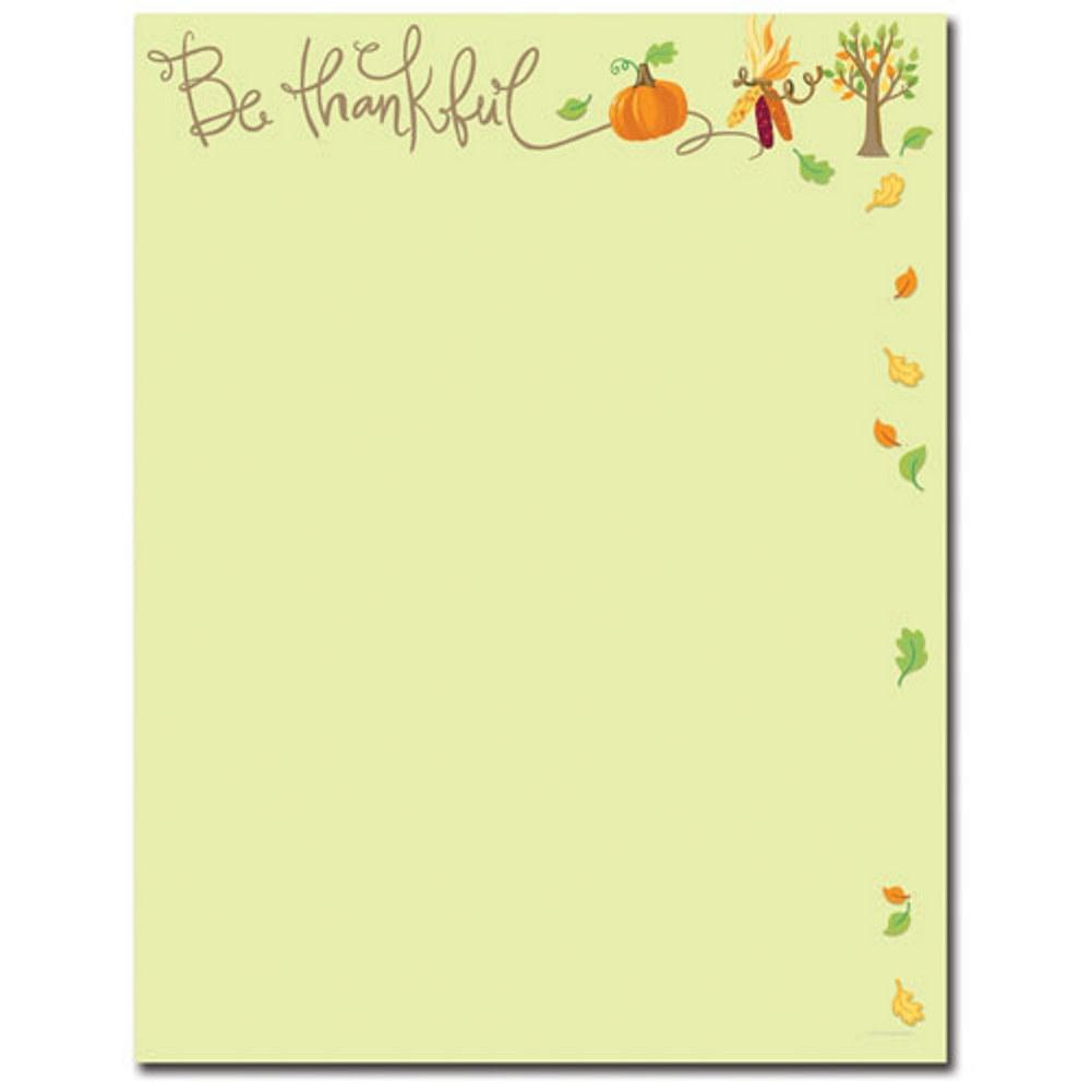 Be Thankful Letterhead - 160 Sheets - Sophie's Favors and Gifts