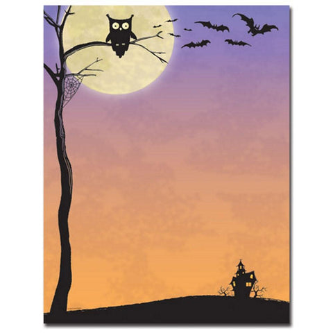 160 Halloween Who Letterhead Sheets, halloween stationery, thanksgiving paper, fall letterhead, halloween invitations, Stationery & Letterhead