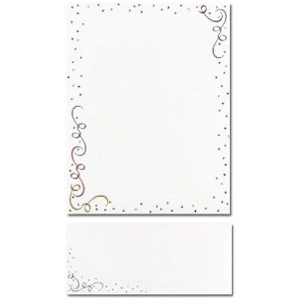 Party Elements Letterhead Sheets and Matching Envelopes - Sophie's Favors and Gifts