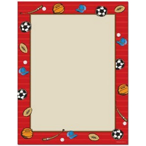 100 Red Sports Letterhead Sheets - Sophie's Favors and Gifts