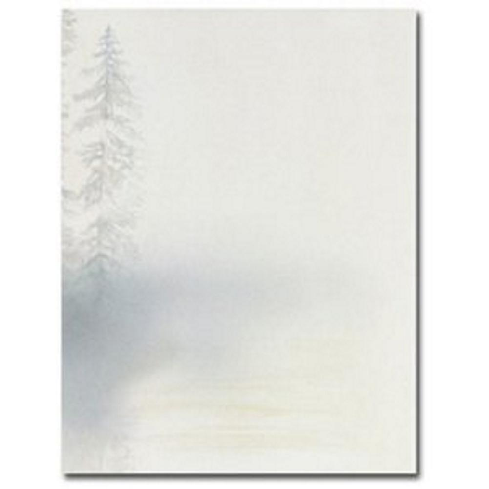 Morning Mist Letterhead Sheets, forest letterhead, forest stationery, bereavement stationery, sympathy letterhead, Stationery & Letterhead